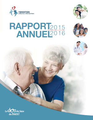 RapportAnnuel Fondation 2015 2016